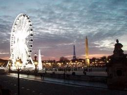 Beautiful view of Paris at dusk. See the Eiffel Tower back there?, Rachel I - January 2009