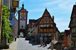Rothenburg ob der Tauber - one of the most enchanting and picturesque medieval towns in Europe , Marichris - October 2015