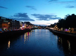 Pub crawl crossing the River Liffey on the way to the next venue. , James N - October 2013
