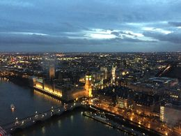 BEUTIFUL VIEW FROM THE LONDON EYE AT NIGHT. , J JULIO V - April 2015
