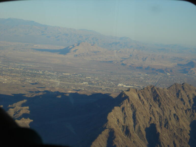 View from the plane - Las Vegas