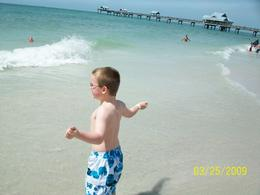 "Clearwater Beach: This is my son, wanting the waves to ""get"" him, Brenda H - April 2009"