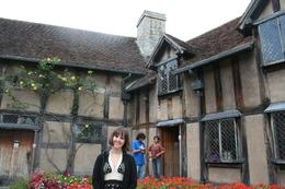 My boyfriend snapped this photo of me from the exterior of the home in which William Shakespeare was born., Heather G - September 2008