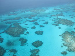 Aerial View of one of the reefs from the Helicopter , Jennifer A - December 2011
