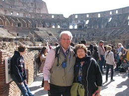 Lorraine and Phil enjoying the Colosseum an absolutely amazing structure. , Phillip S - March 2014