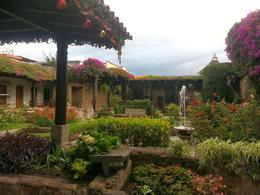 Photo of Antigua 8-Day Best of Guatemala Tour: Antigua, Pacaya Volcano, Lake Atitlan and Tikal Ruins Colonial Style Courtyard