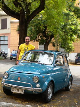 Photo of Rome Private Tour: Rome Sightseeing by Vintage Fiat 500 Daniel, our guide...