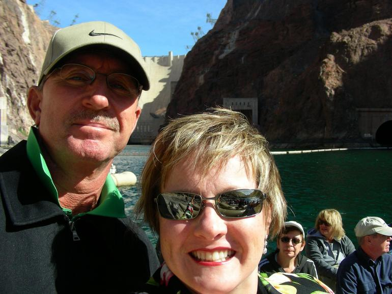 This is on the inflatable raft ride up the Colorado River, which starts at the base of Hoover Dam. Great fun!