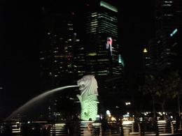 Photo of Singapore Singapore's Chinatown Trishaw Night Tour Merlion