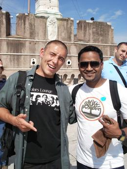 Photo of Rome Rome Angels and Demons Half-Day Tour Our kool tour guide and my hubby Ian