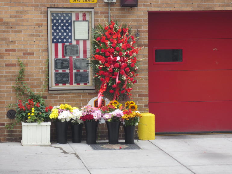 outside one of the fire stations near where we were staying