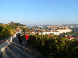 Walking down to the river from Prague Castle , Robin F - November 2014