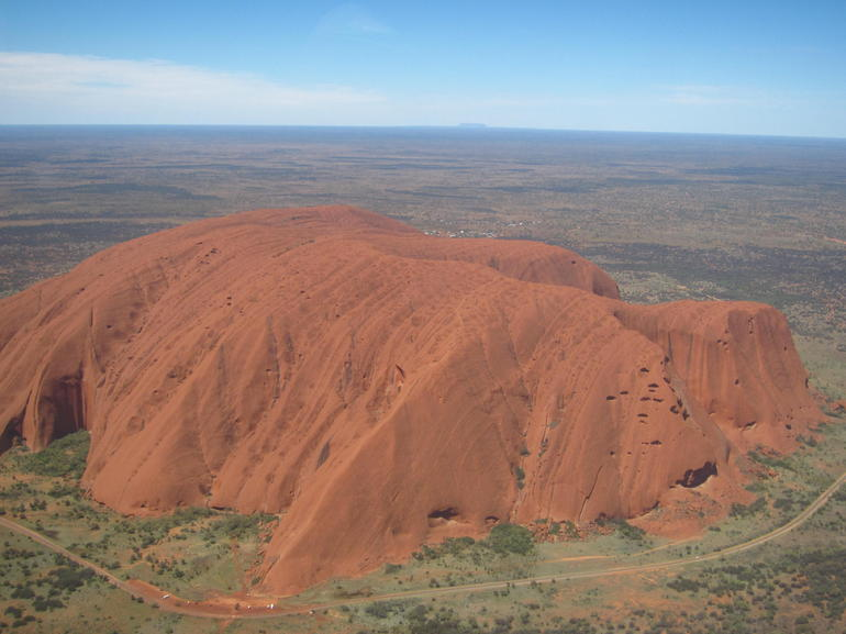Helicopter ride over Uluru