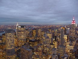 Photo of New York City Top of the Rock Observation Deck, New York View from the Top of the Rock at sunset!