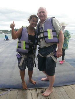 Awesome experience parasailing on our way back from Coral Island. , David S - August 2013