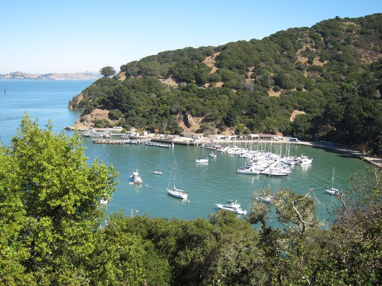 Ayala Cove - the ferry lands on the far side -