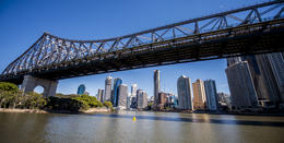 View of Brisbane City from the Story Bridge , Clifford R - August 2014