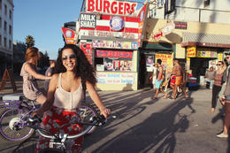 Photo of Los Angeles Electric Bicycle Tour of Santa Monica and Venice Beach Burger shack