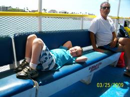Just relaxing on our boat ride., Brenda H - April 2009
