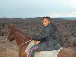 Photo of Las Vegas Wild West Sunset Horseback Ride with Dinner Jadyn on her horse