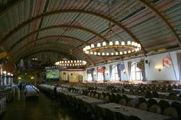 This is the famous party room at the Hofbrauhaus. Site of many Nazi rallies from 1933-1944., Mark B - April 2009