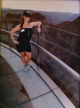 On the Grand Canyon Skywalk , Vanessa F - June 2011