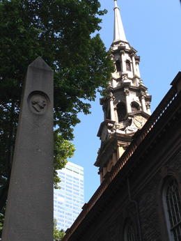 St. Paul's Chapel… looking up, always looking up. , Karen D - June 2014