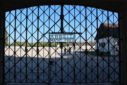 Photo of Munich Dachau Concentration Camp Memorial Small Group Tour from Munich The infamous gate
