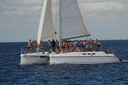 Photo of Punta Cana Catamaran Cruise to Saona Island from Punta Cana The ride out to Saona Island.