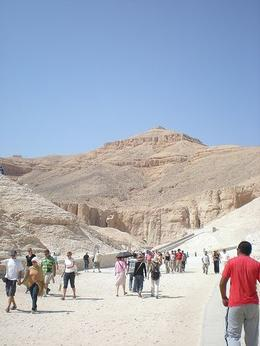 The Valley of the Kings sits under a mountain which is shaped like a pyramid. - May 2008