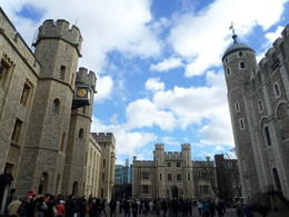 Crown jewels to the left. White Tower to the right , Tammy H - November 2014