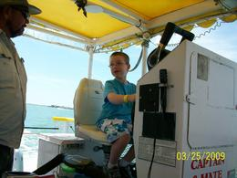 "The captain of our boat let my son, and the other kids, take a turn ""driving"" the boat..how special!, Brenda H - April 2009"
