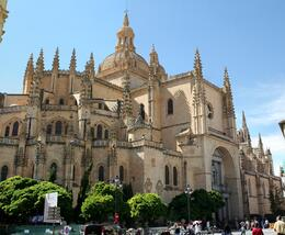 The Segovia Cathedral up close. Pictures not allowed inside, but it is absolutely beautiful., Terence P - October 2010