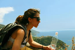 Hiking under the hot sun was tiring , Natalia Bougadellis - August 2013