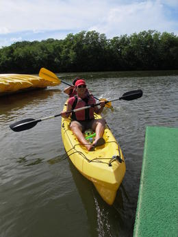 right before the start of the kayaking. bring lot's of sunscreen lotion (spf 30 at least!) , lea m - October 2013