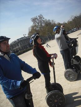 About to set off on our segway, Frances - April 2010