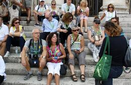 Photo of Rome Skip the Line: Vatican Museums Walking Tour including Sistine Chapel, Raphael's Rooms and St Peter's Listening to the host
