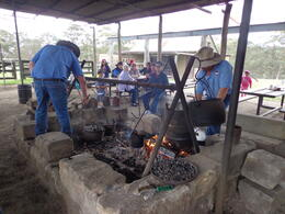Photo of Sydney Tobruk Australian Outback Experience including Aussie BBQ Lunch Making tea and damper