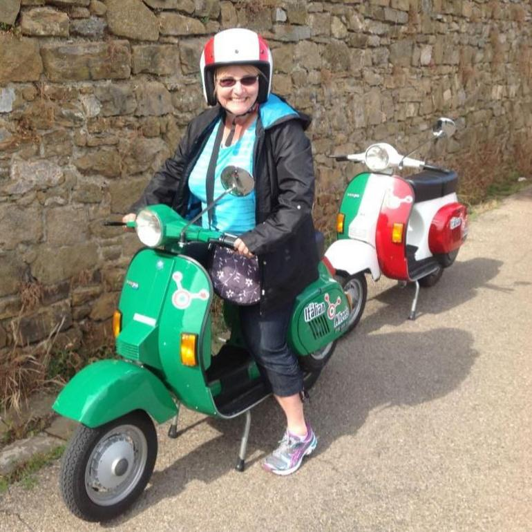 Me on the Vespa - Florence