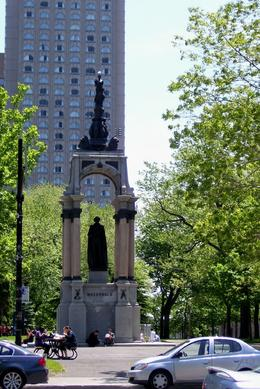 One of many parks/squares and statues found throughout Montreal -- a lovely city!, Judith C - June 2009
