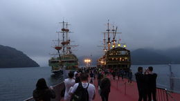 Odakyu Hakone lake cruise. Our ship was the one on the right. Cruising in the night.... , JOSE MARIA M - November 2015