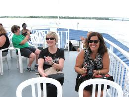 Lin and Rina enjoying Paddlewheel Cruise on the Mississippi , Janet D - July 2014