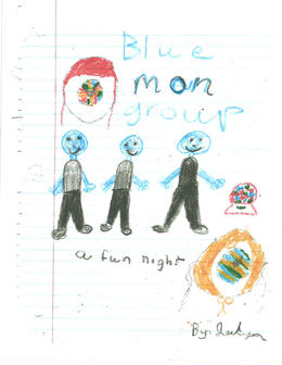 A super cute drawing of Blue Man Group by Jaydn!, Astrolover - November 2012