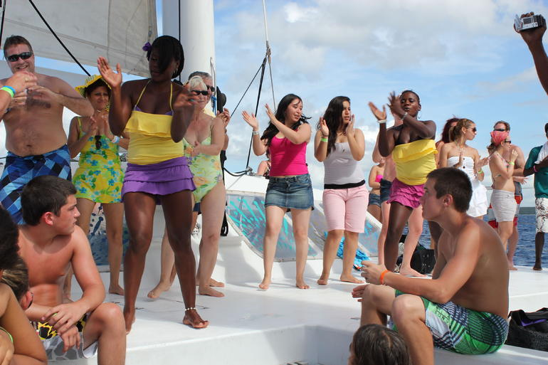 Party on our catamaran - La Romana