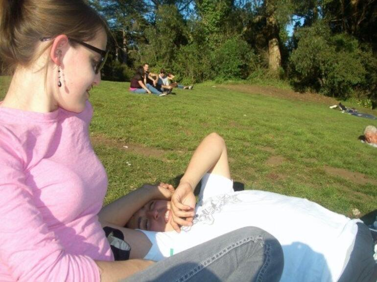 Relaxing at Golden Gate Park - San Francisco
