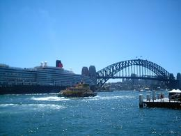 Sydney Bridge, the Queen Victoria Ship, picture took from the cruise., YENI C - March 2008