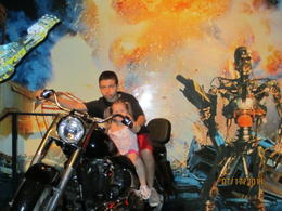 Gio and Lanie on the Terminator bike!, Becky - July 2011
