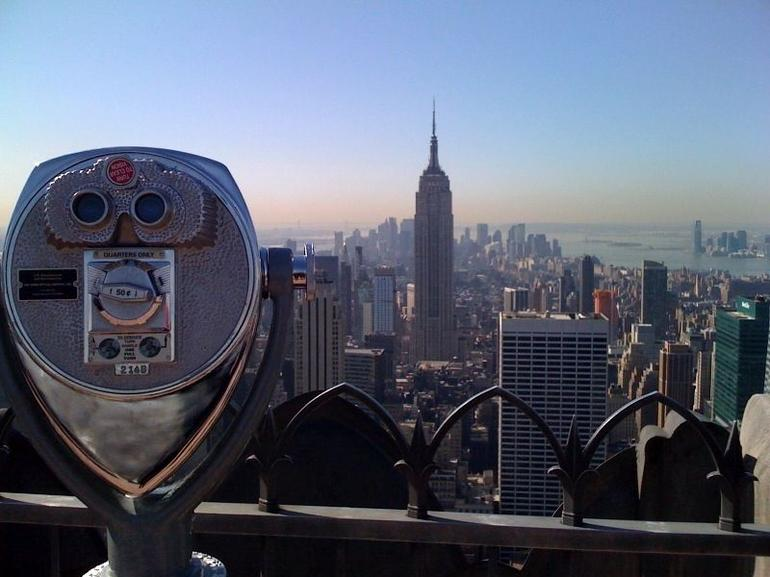 The Empire State Building from Top of the Rock - New York City