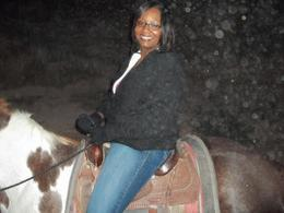 Photo of Las Vegas Wild West Sunset Horseback Ride with Dinner Tiffany on her horse