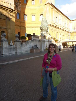 Photo of   Vatican Museums and giant pine cones!